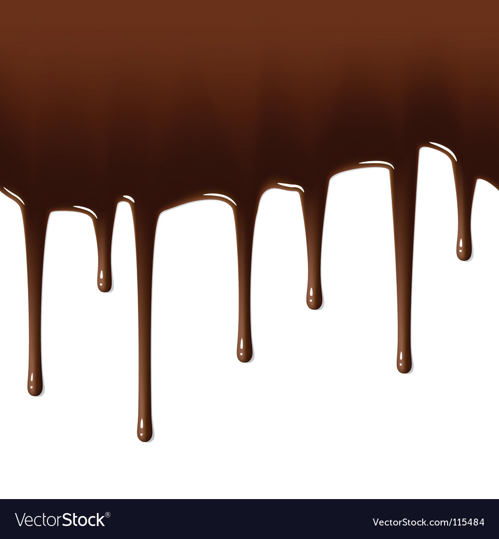 Hot chocolate drips vector