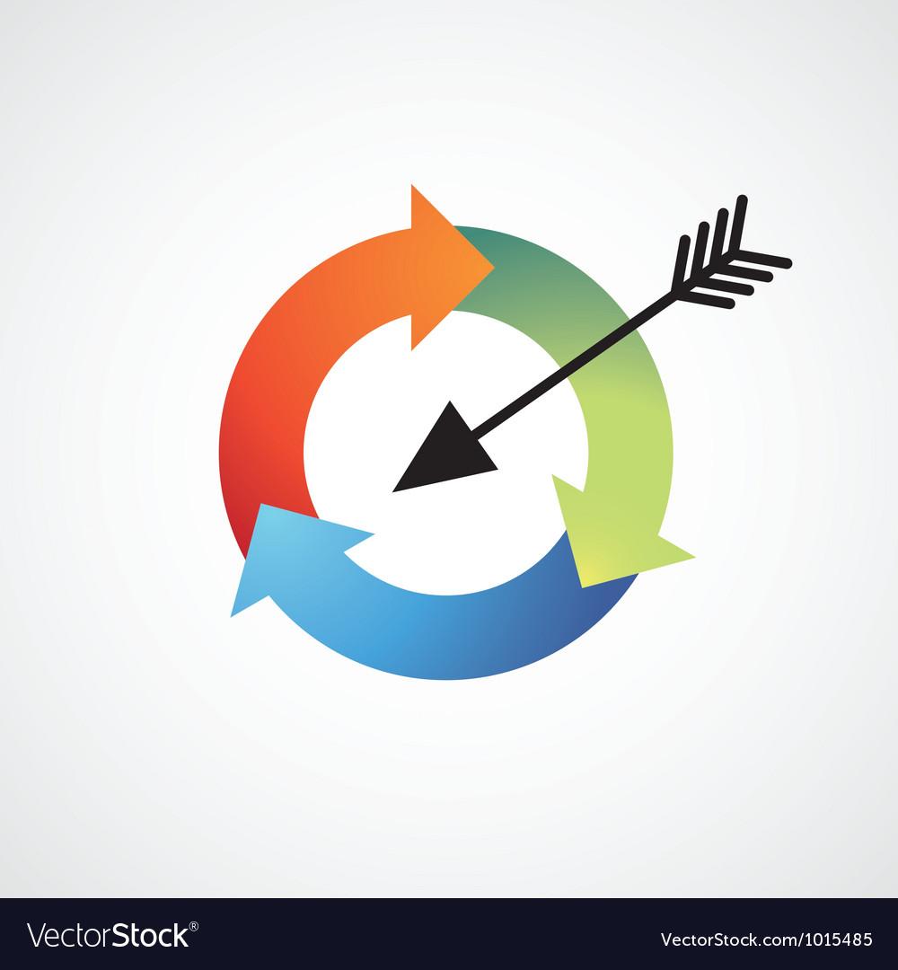 Arrow cycle vector