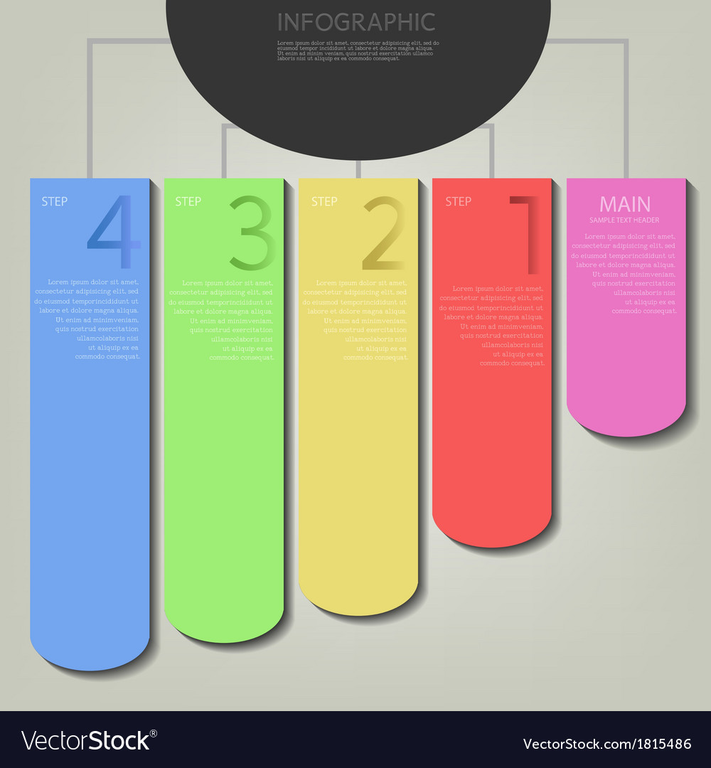 Infographic plan row tag vector