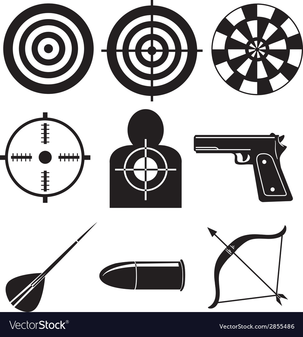 Shooting sports vector