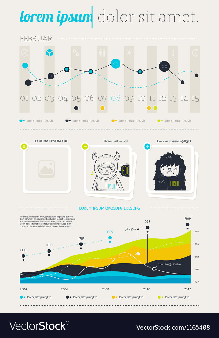 Elements of infographics with buttons and menus vector