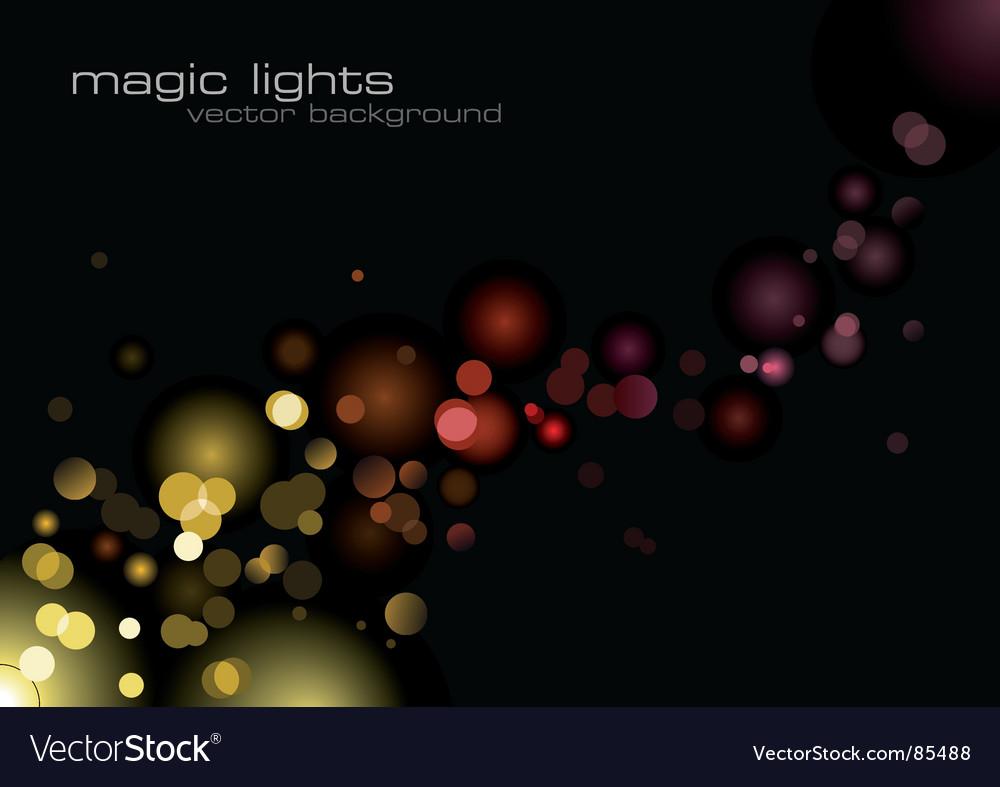 Magic lights vector