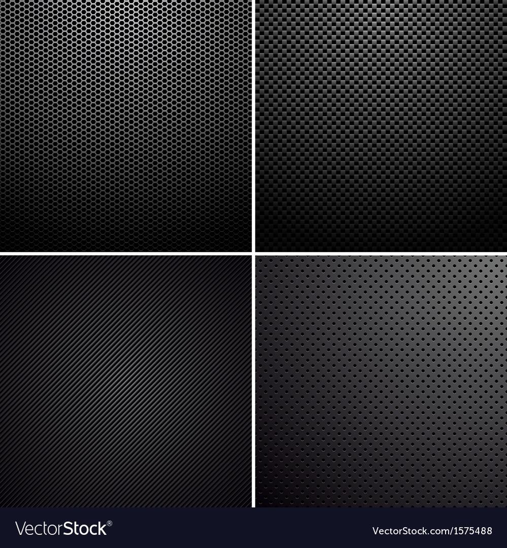 Metal-carbon textures vector