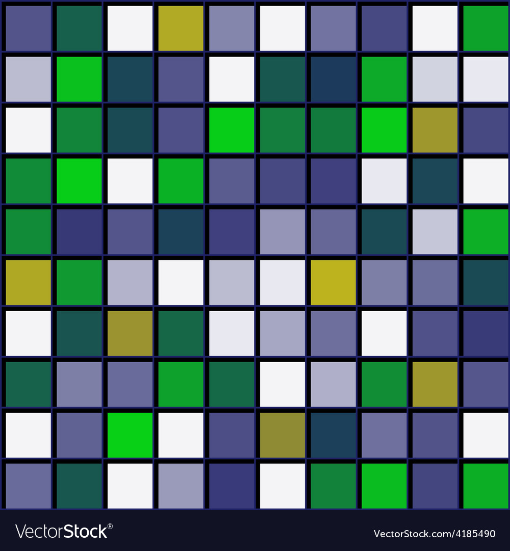 Abstract pattern squares with black grille vector