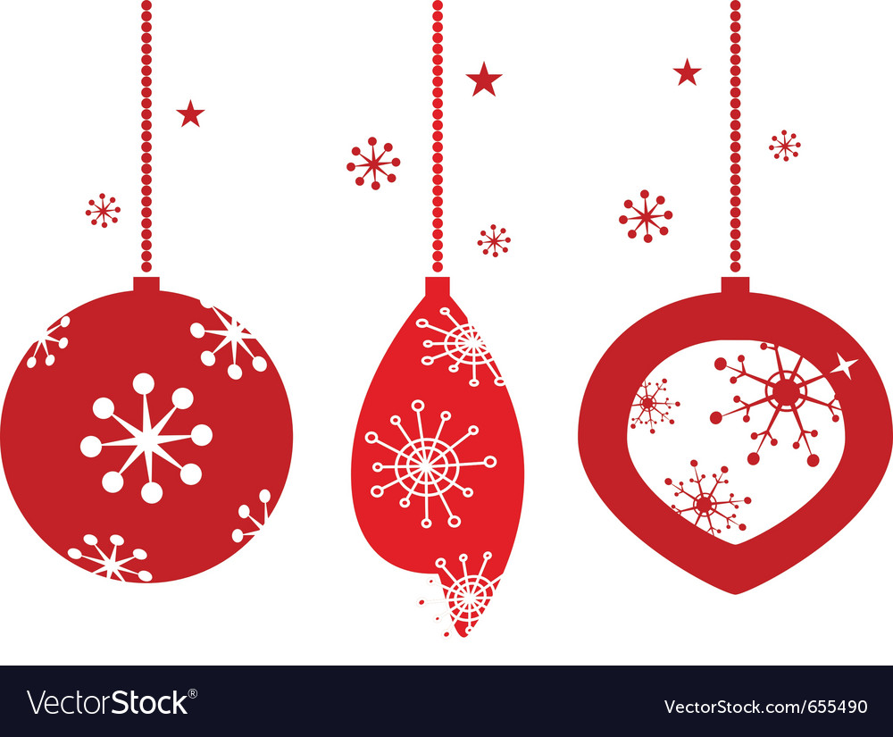 Christmas decoration for retro party vector