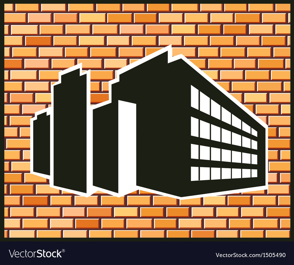 Industrial building vector
