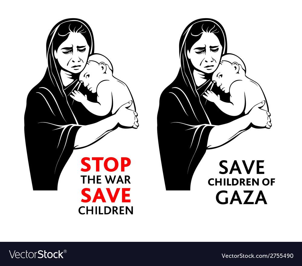 Save children stickers vector