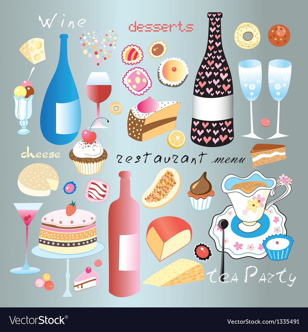 A set of food and drink vector