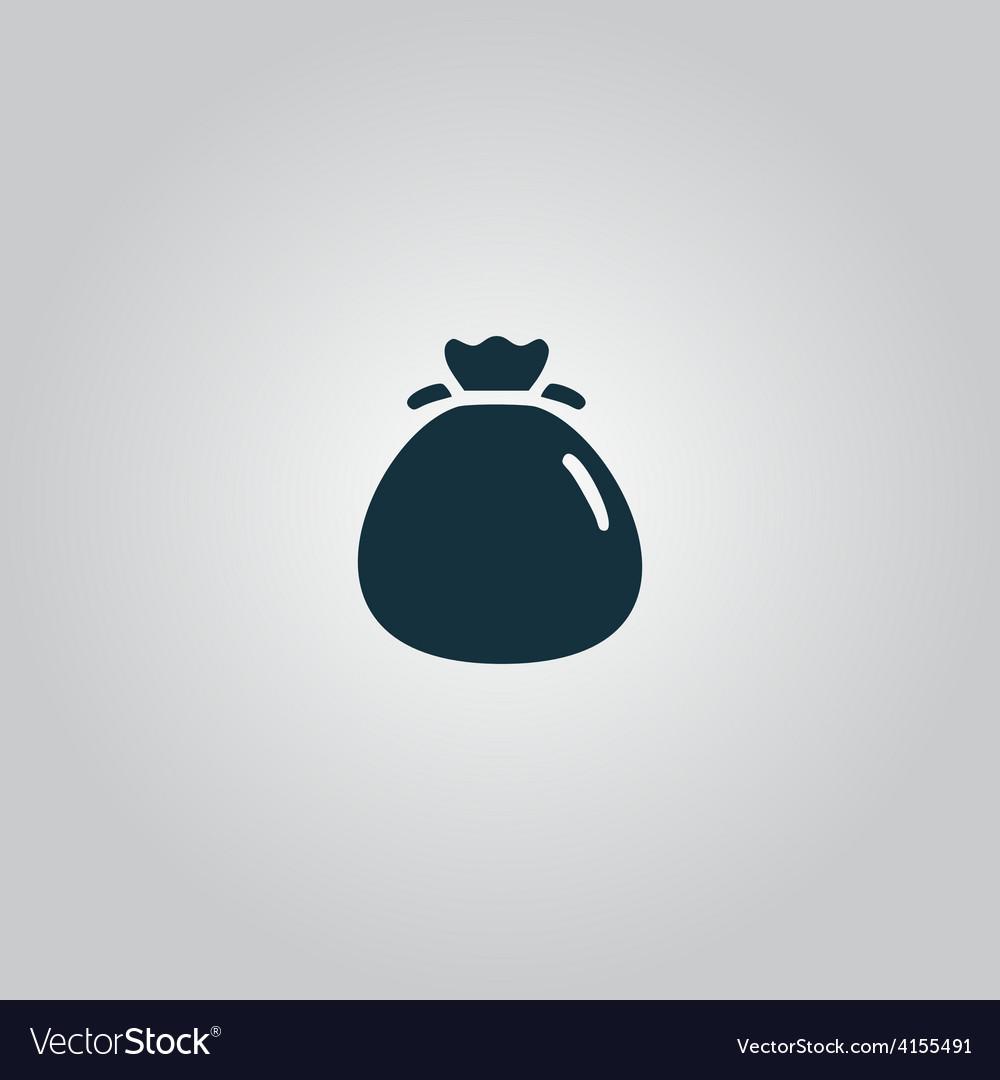 Bag flour icon vector