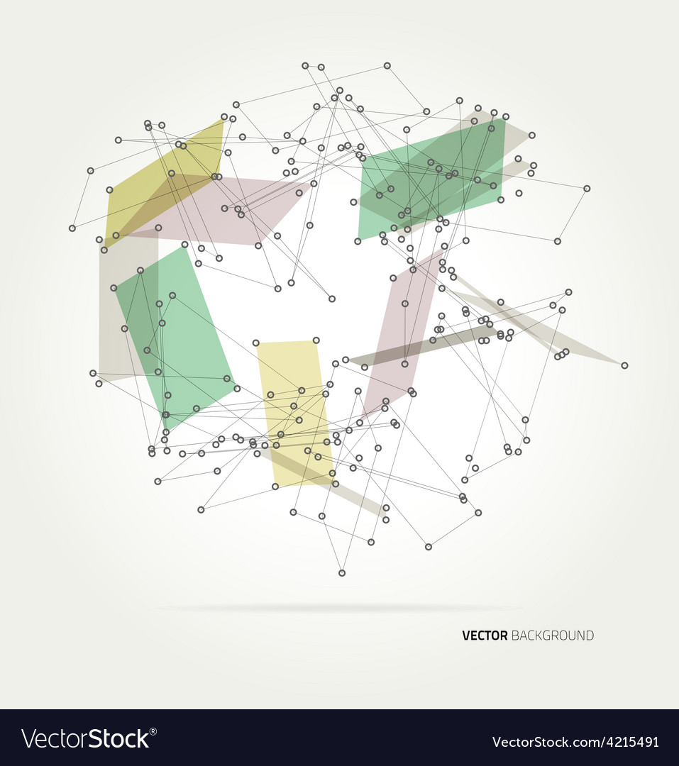 Geometric polygonal structure vector