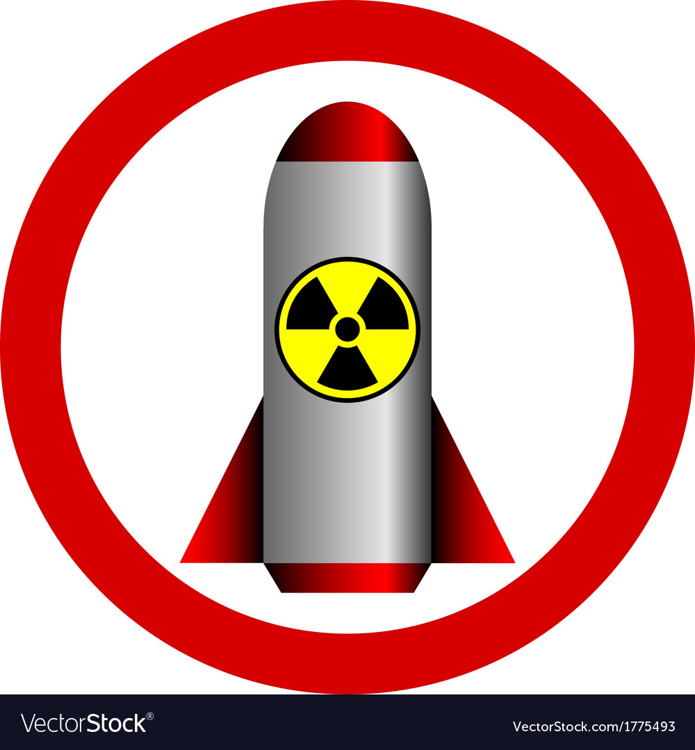 Nuclear war and radiation sign forbidden vector