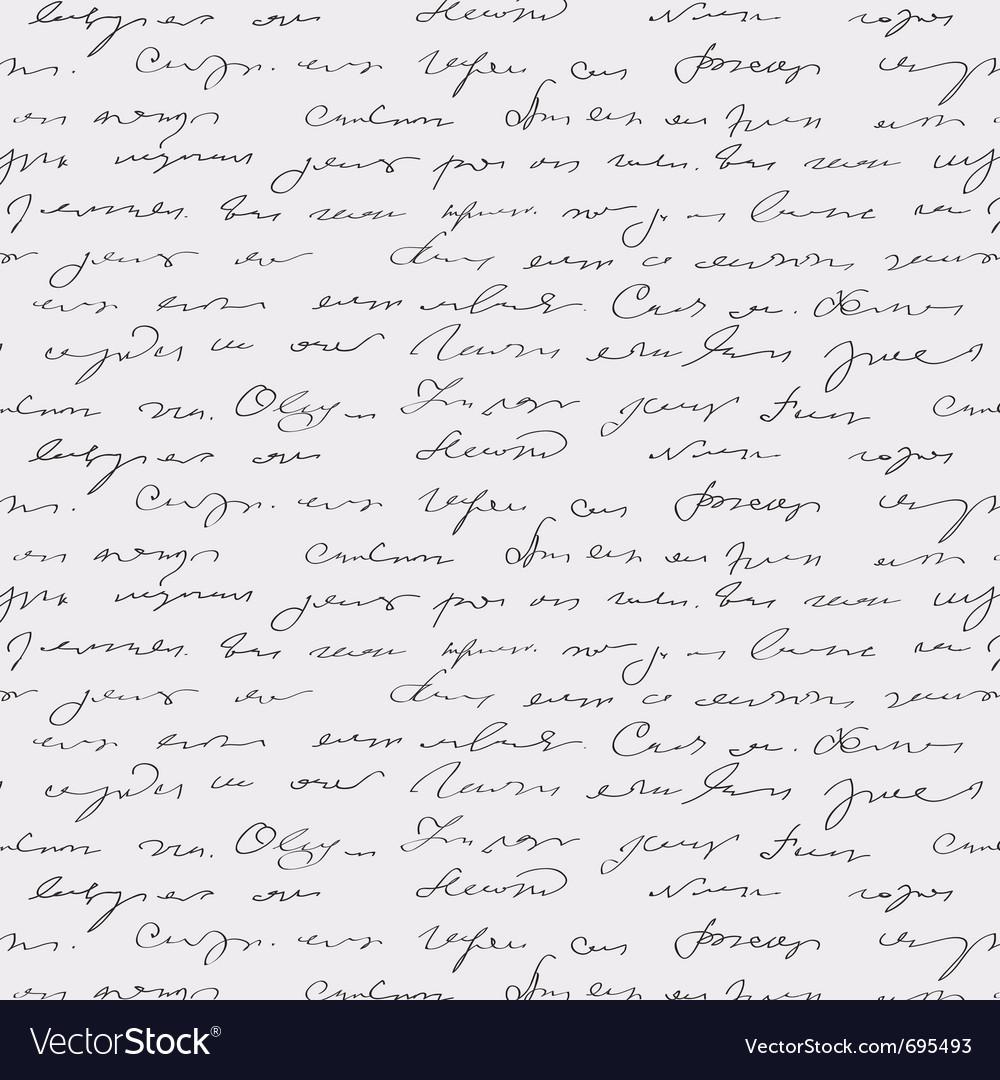 Seamless abstract handwritten text vector
