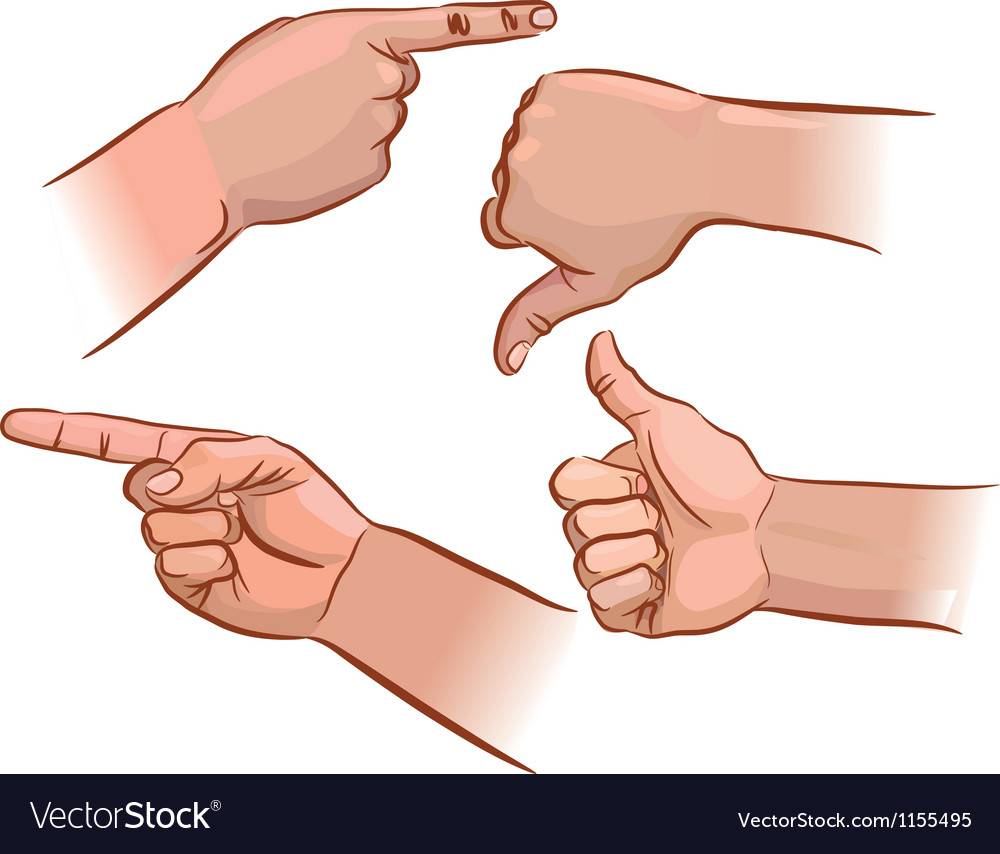 Set of hand pointers vector