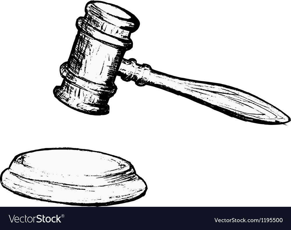 Court gavel vector