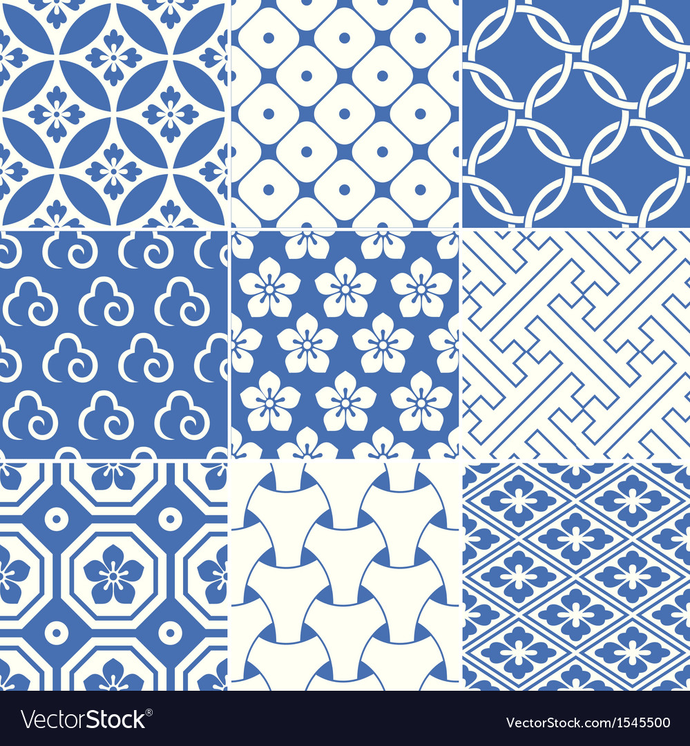Vintage japanese traditional pattern vector
