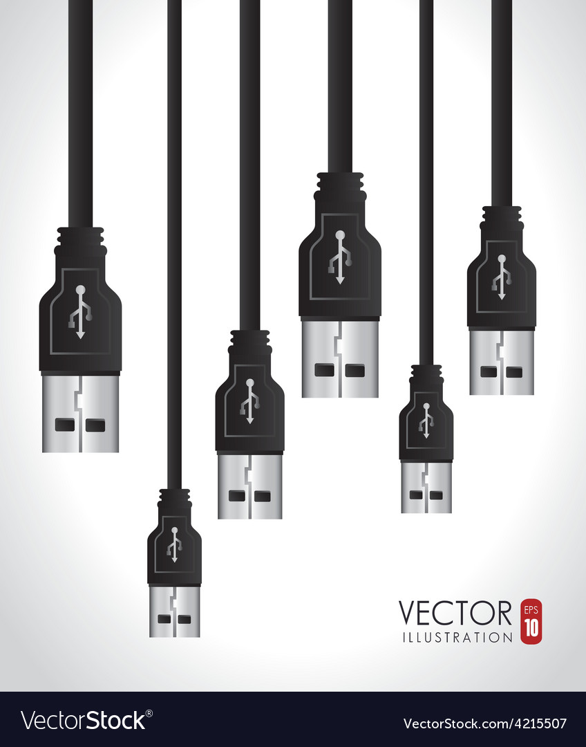 Usb design vector