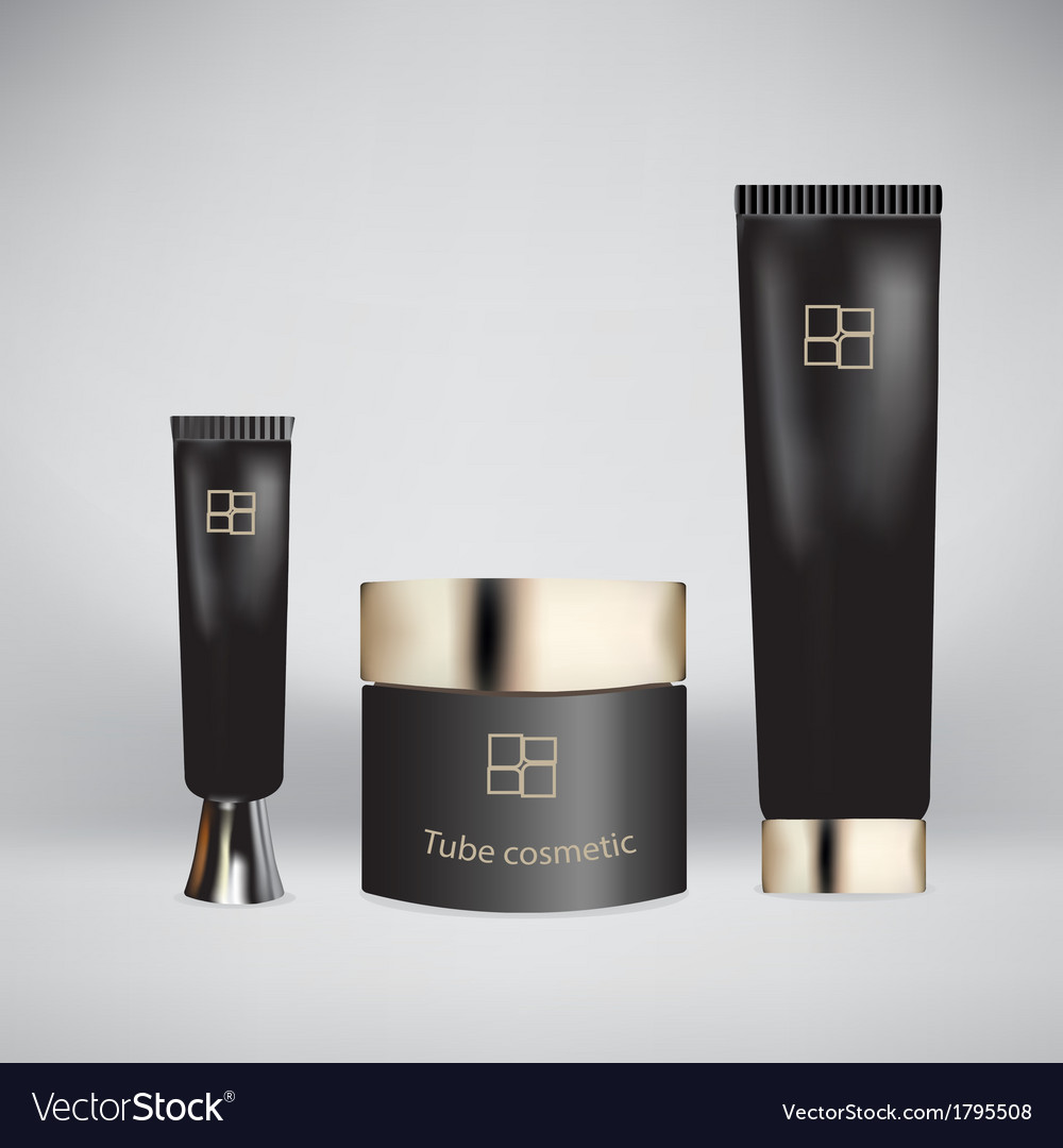 Tube cosmetic vector