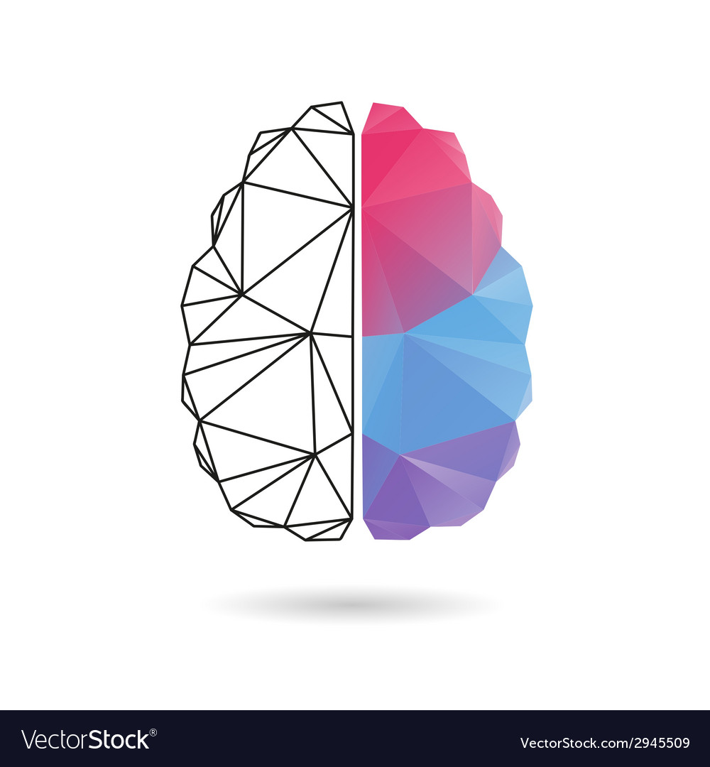 Brain abstract isolated on a white vector