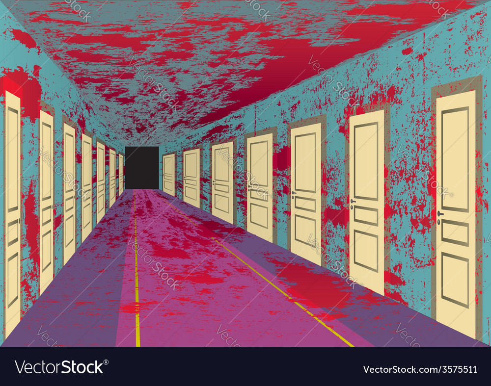 Bloody hall vector