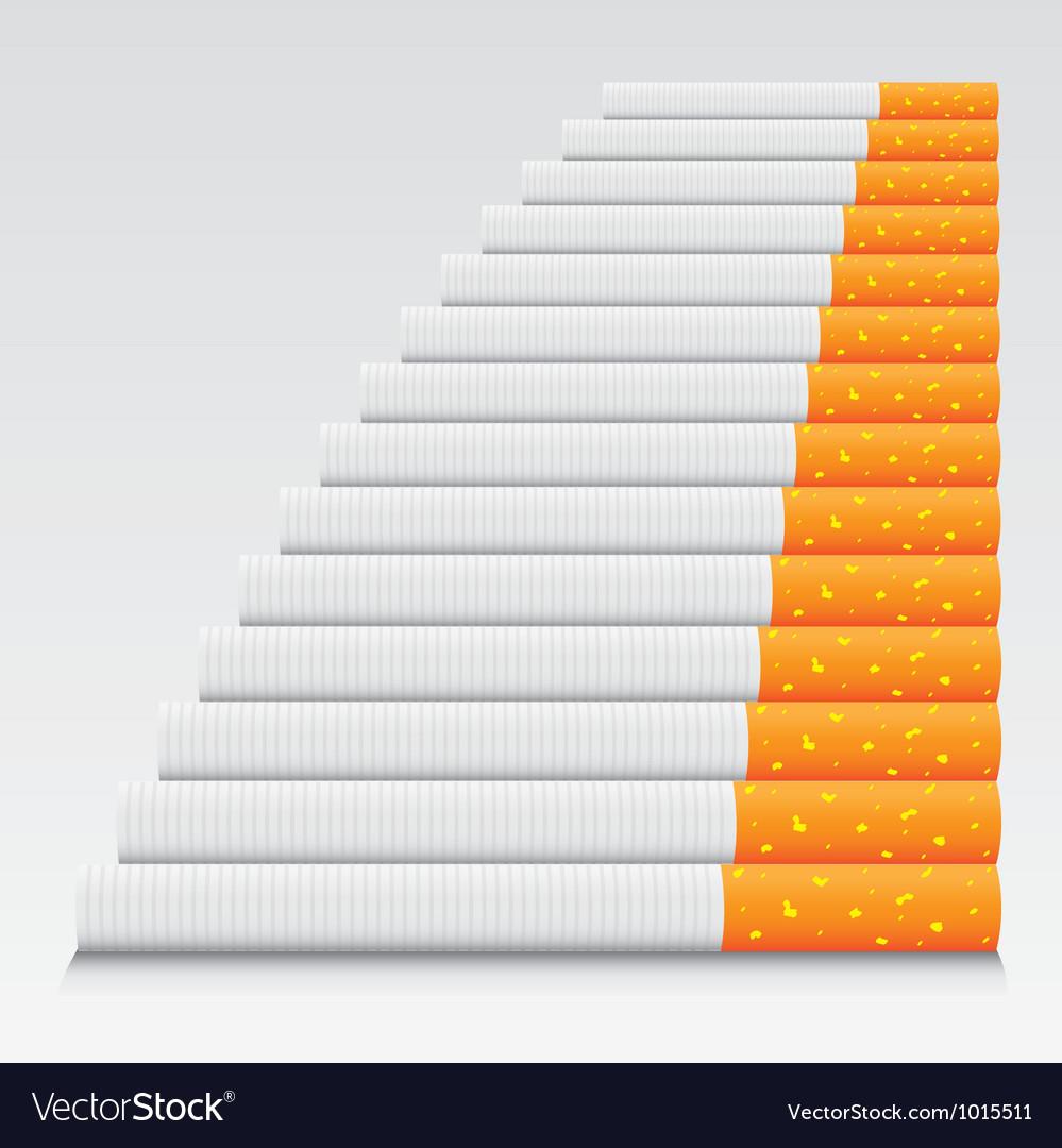 Cigarettes in line vector