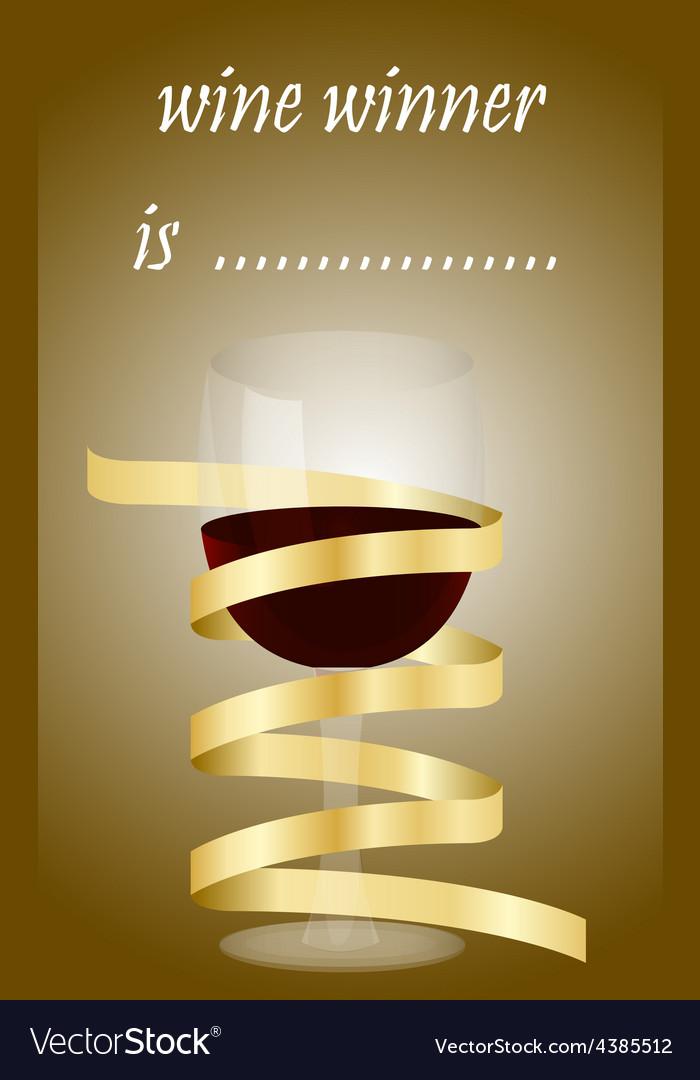 Best wine wine winner competition vector