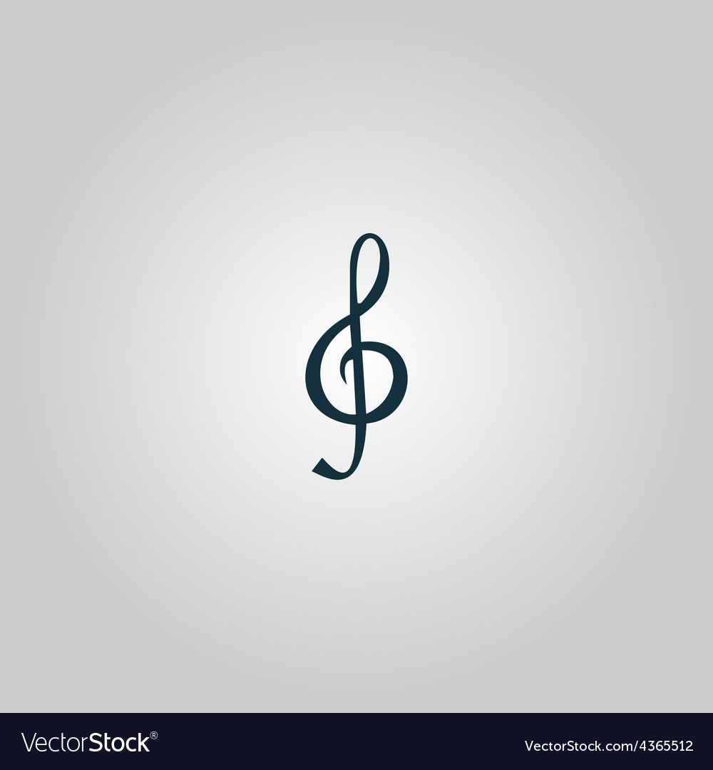Music note sheet key vector