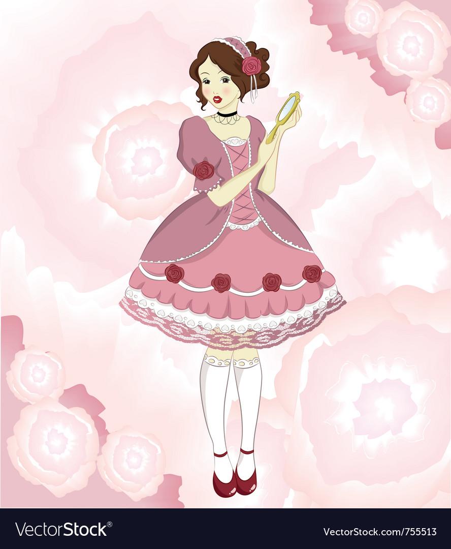 Romantic girl vector