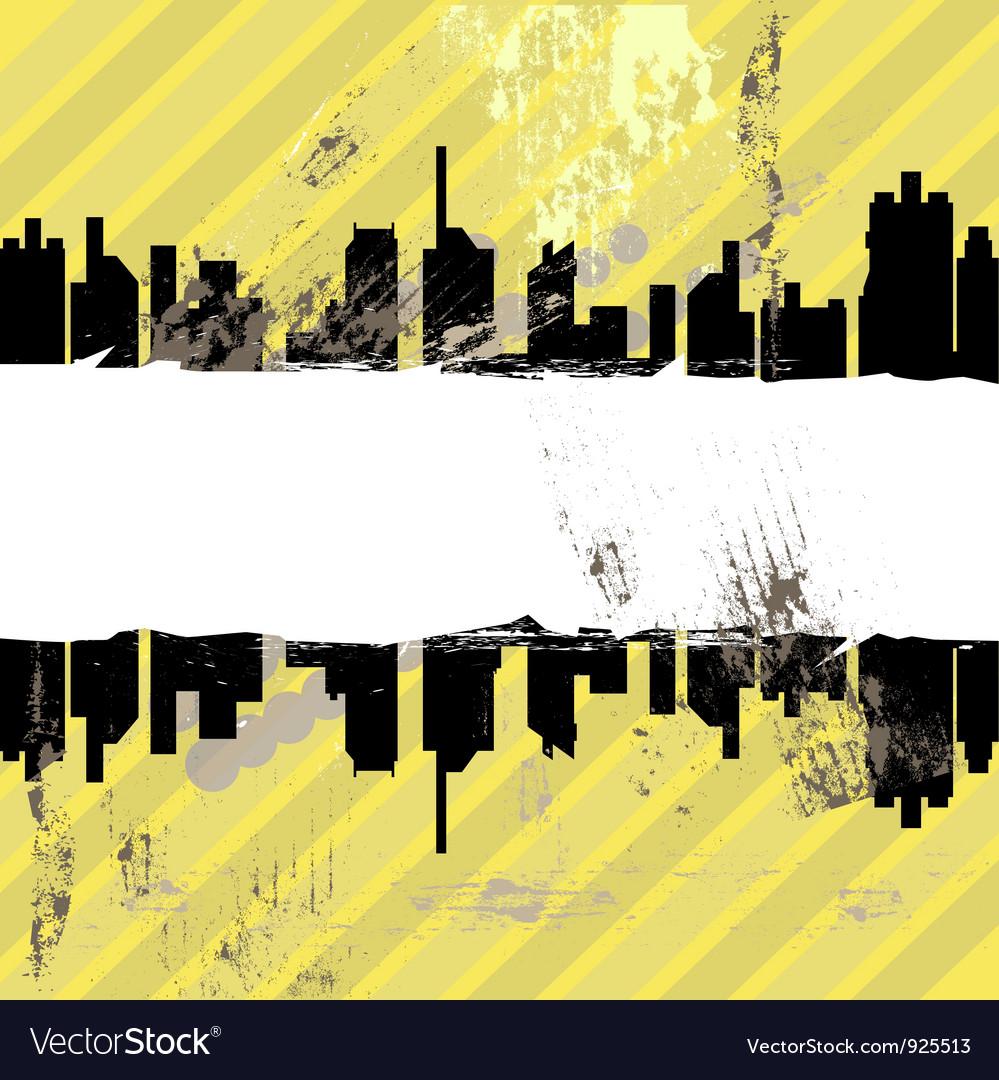Urban grunge design vector