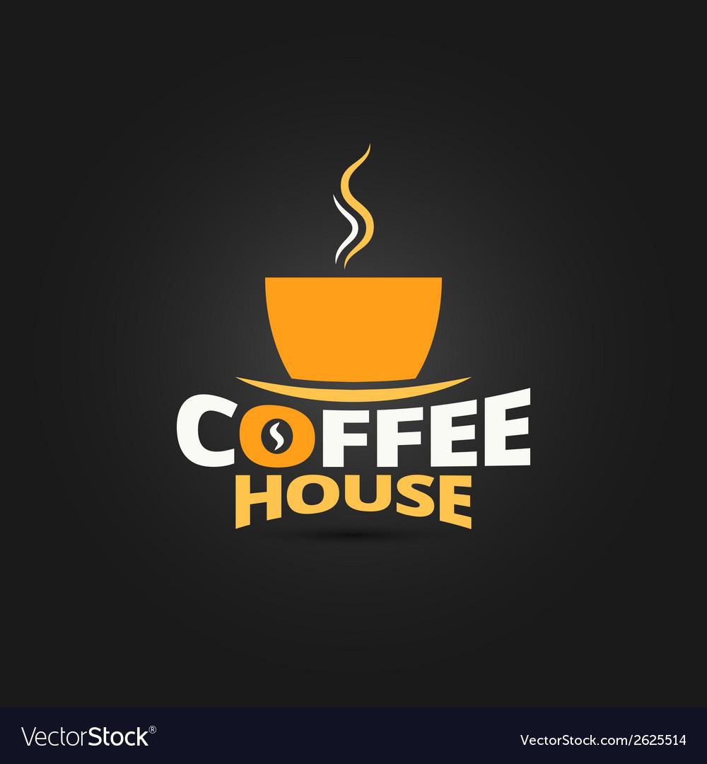 Coffee cup design menu background vector