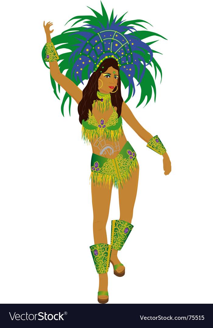 Samba dancer vector