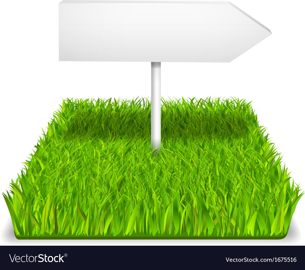Green grass arrow vector