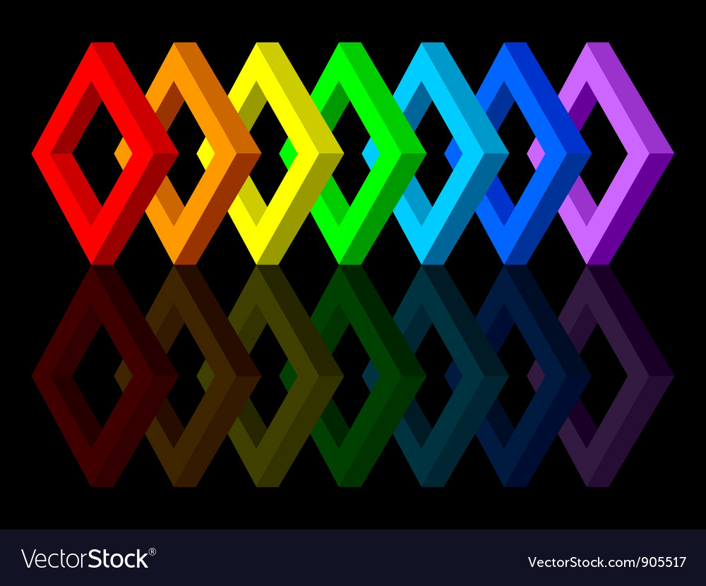 Multicolored shapes vector