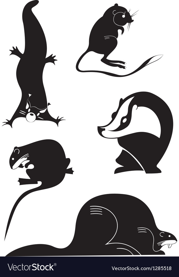 Original animal silhouettes vector
