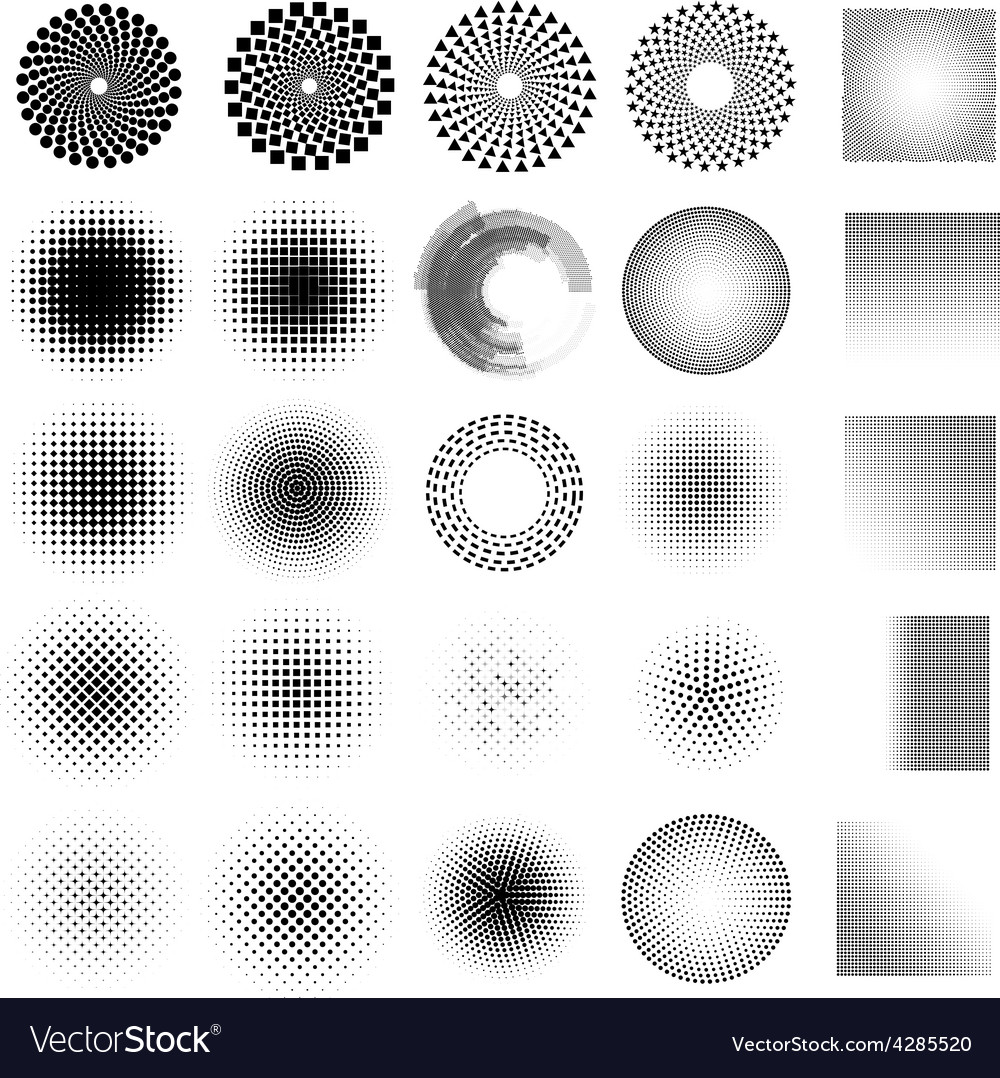 Abstract dot set vector