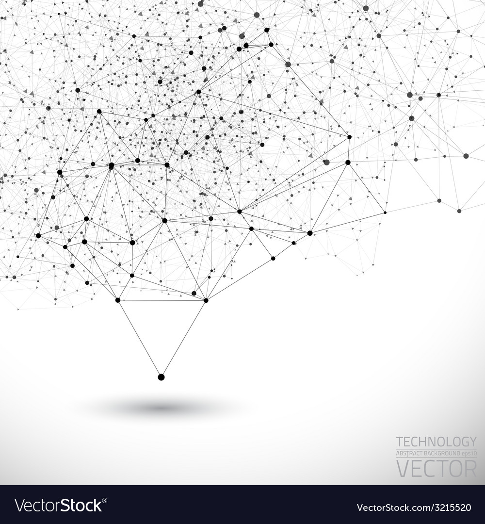 Connection structure background vector