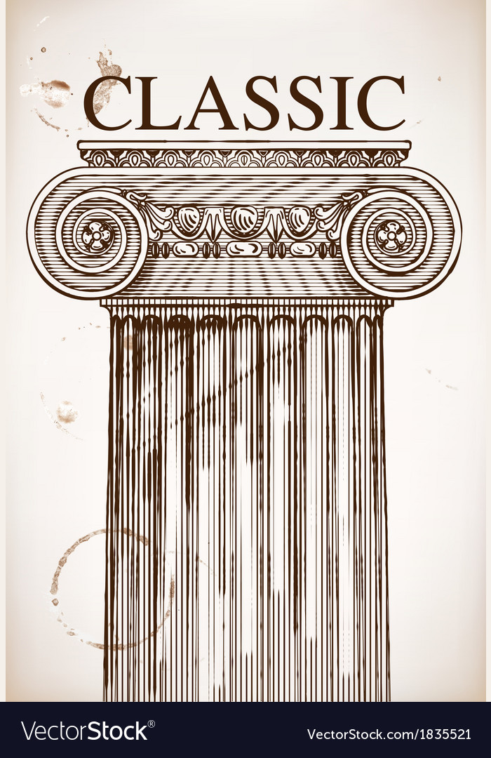 Classical column background vector