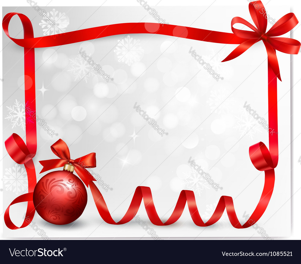Holiday ribbon background vector