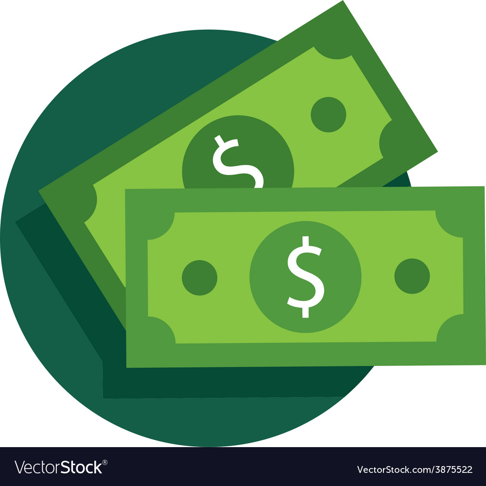 Dollar bill icon vector