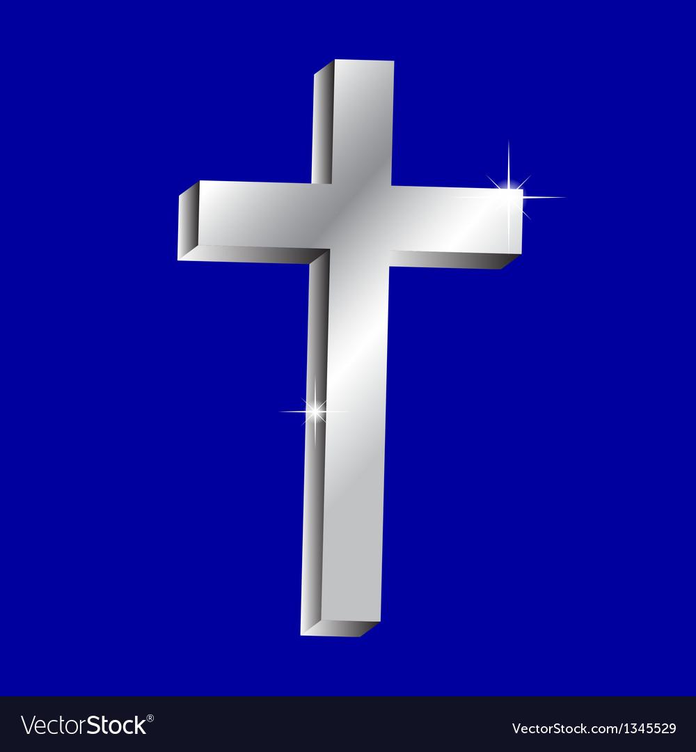 Shiny cross vector