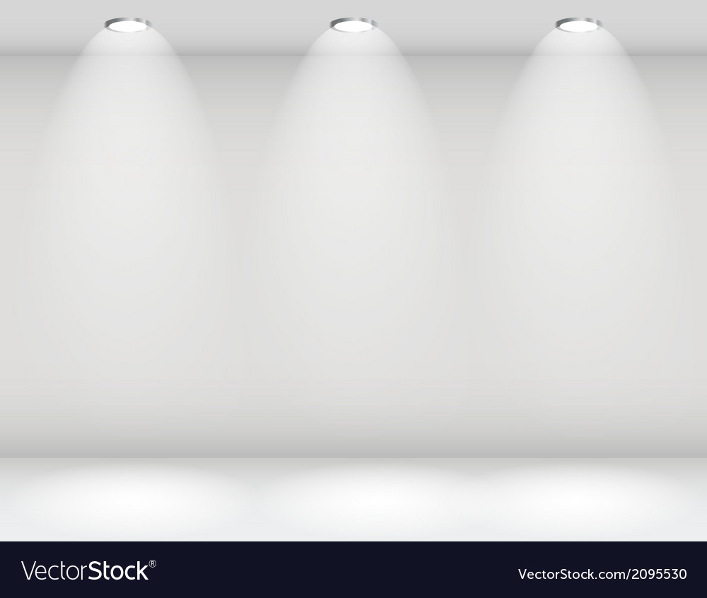 Empty wall for your text and images vector