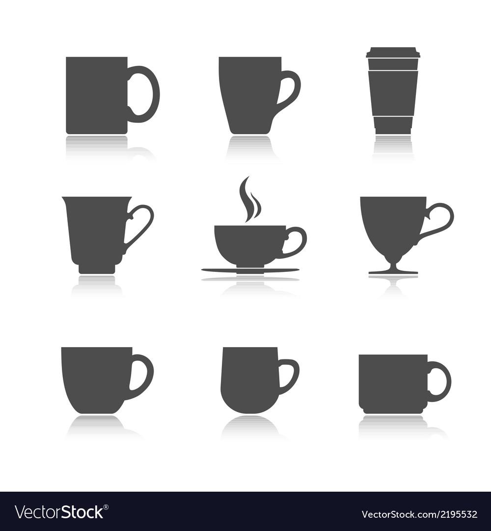 Tea cup set vector