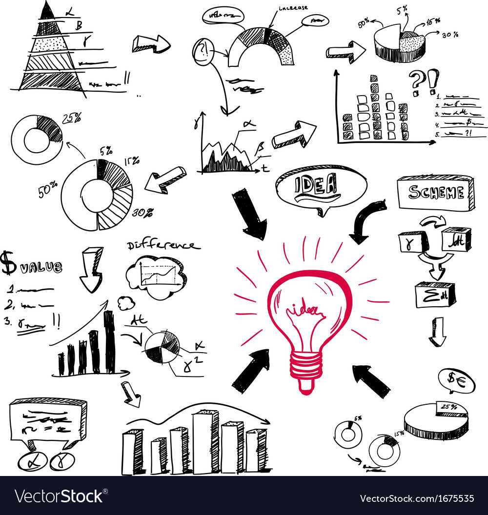Doodle infographics vector