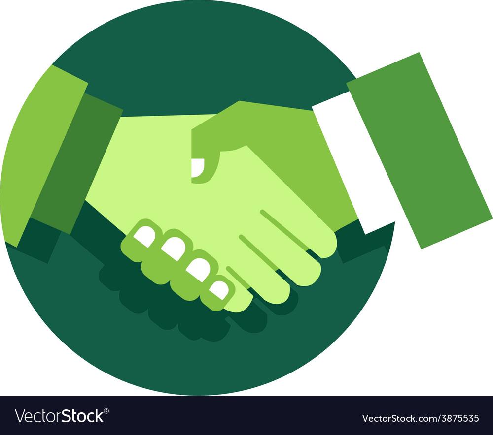 Handshake abstract logo design template vector
