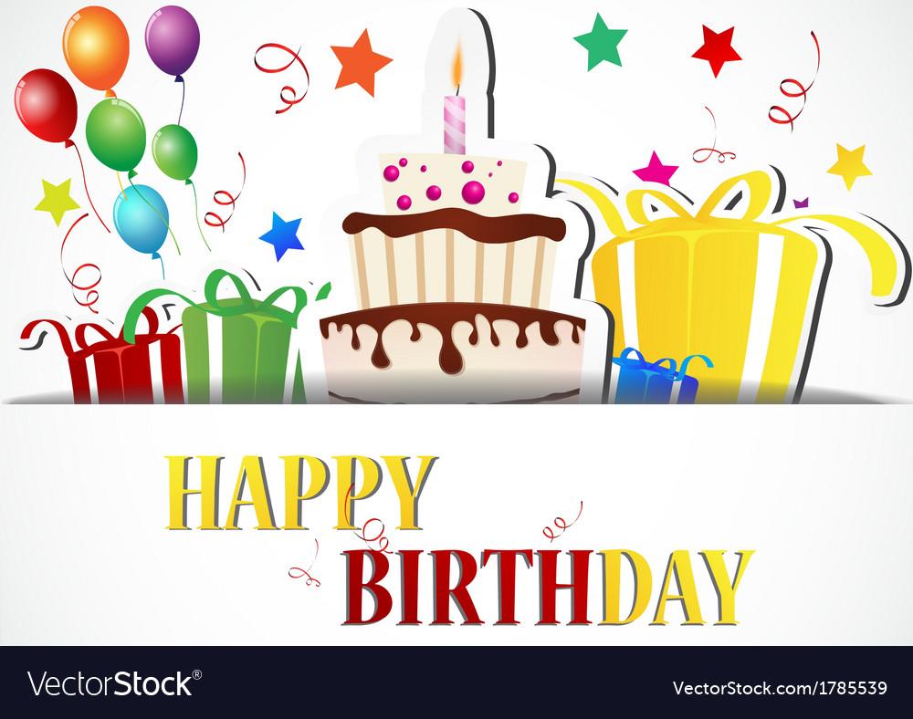 Birthday card celebration vector