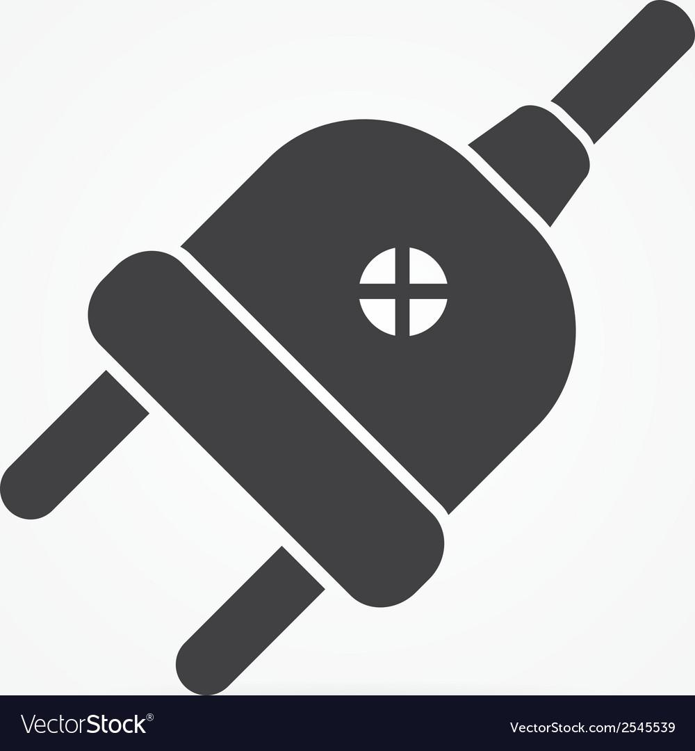 Simple electric plug icon vector