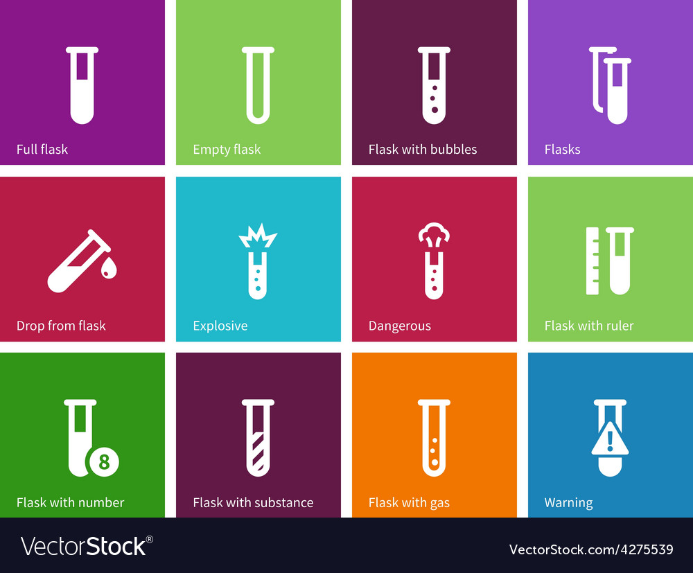 Tube icons on color background vector