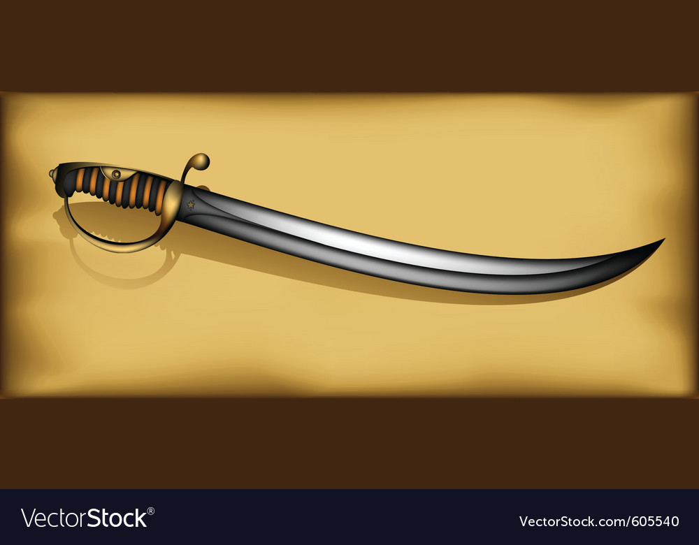 Ancient saber vector