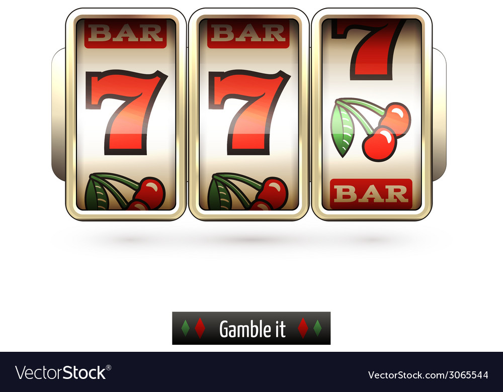 Realistic slot machine isolated vector