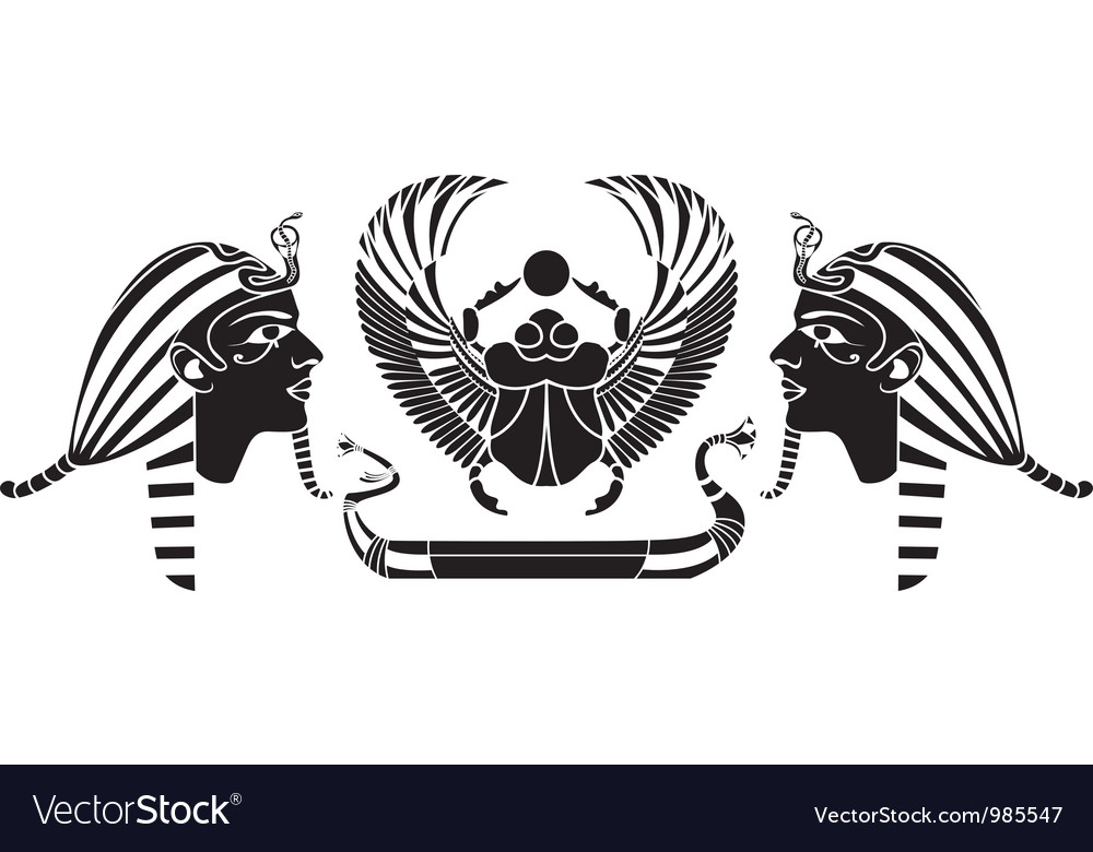 Ancient egyptian composition vector