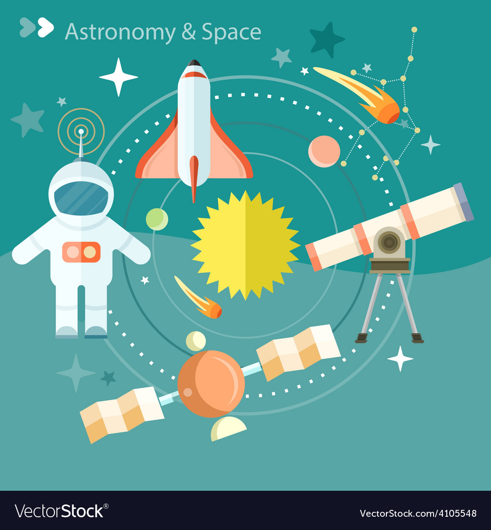Space and astronomy vector